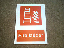 FIRE LADDER SIGN - HEALTH AND SAFETY SIGN IN RIGID PVC WATERPROOF