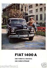 Fiat 1400 A Reklame von 1954 Italien Werbung ad