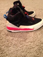 AIR JORDAN SPIZIKE BLACK WHITE INFRARED RED-BLUE CEMENT GREY 315371-002 Size7.5