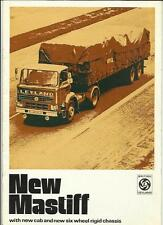 LEYLAND NEW 'REDLINE' MASTIFF TRUCK LORRY SALES BROCHURE 1972 1973