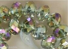 4*3mm Gray AB+Crystal Gems 149pcs Loose Beads Beautiful!!