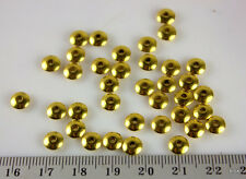 S067 - Round Flat Saucer Metal Spacer Beads - Gold - 6x2mm x 40pce (11g)