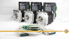 ACT Motor GmbH 3PCS 34HS5460 Stepper Motor 6.0A 151mm 11Nm+3PCS DM860 Driver