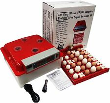 BLU RITE FARM 3600 PRO DIGITAL 144 QUAIL 36 CHICKEN EGG INCUBATOR KIT TURNER FAN