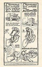 W7438 Biiclette AUTOMOTO - Pubblicità del 1926 - Old advertising