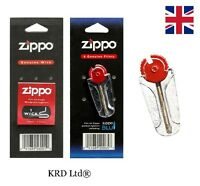 New Genuine ZIPPO Lighter Wick and Flints Packs Wicks Flint Lighter Accessories