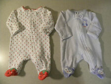 carter's 2pc.baby girl preemie clothes lot(twins?)-