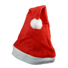 1pc Adult Christmas Party Xmas Hat Red And White Cap Santa Claus Costume