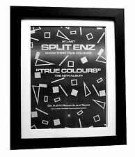 SPLIT ENZ+True Colours+POSTER+AD+RARE ORIG 1980+QUALITY FRAMED+FAST GLOBAL SHIP