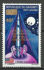 Dahomey Espace 1er Homme Lune Man on Moon Space Weltraum ** 1970 Inconnu Or Gold