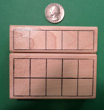 5-Frame and 10-Frame, Math Teacher's Set of Wood Mounted Rubber Stamps