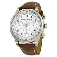 Baume and Mercier Capeland White Dial Chronograph Mens Watch 10082