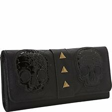 Loungefly Snake Skin Skull Quilted Tattoo Punk Gothic Urban  Wallet LFWA0381