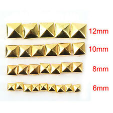 100pcs DIY Metal Punk Square Pyramid Spike Rivet Studs Leathercraft 6-12mm
