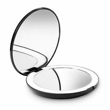 Fancii LED Lighted Travel Makeup Mirror, 1x/10x Magnification Compact & Portable
