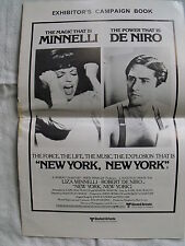 NEW YORK NEW YORK (1977) Cinema Exhibitors Campaign Press Book Minnelli De Nero