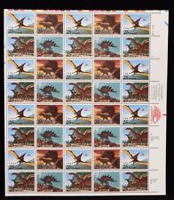 US Stamps 1989 Dinosaurs on Stamps 40 Stamp Sheet Scott #2422-5