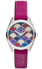 NEW AUTHENTIC ARMANI EXCHANGE Purple Leather Women's Watch AX5523 $160