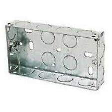 DOUBLE METAL BACK BOX 25MM FOR ELECTRIC SOCKETS - 10 PACK