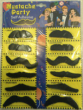 STYLISH MUSTACHES COSTUME FANCY DRESS FAKE  PACK of 12