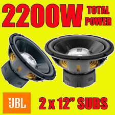 "JBL DOUBLE 12"" 30cm 2200W CAR BASS SUBS SUBWOOFERS 4 OHM BRAND NEW"