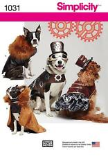SIMPLICITY SEWING PATTERN DOGS CLOTHES COSTUMES STEAMPUNK CAPE SIZES S - L  1031