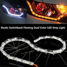 2* Switchback Flowing LED Strip Light Sequential Turn Signal Headlight Retrofit