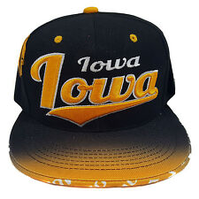 IOWA EMBROIDERED FLAT FLASH Snapback Cap