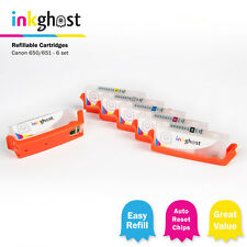 Refillable Cartridges x 6 compatible with Canon CLI-651 PGI-650 MG7160 MG6360