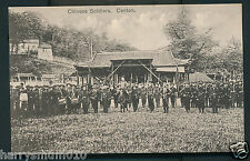 China Canton Postcard real photograph Chinese soldiers c 1910 ?