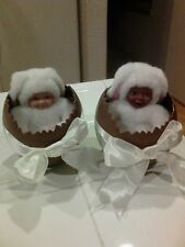 2 Anne Geddes Bunny Baby in Easter Egg