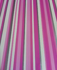 Pink Silver White Stripe Wallpaper Free P&p
