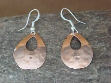 Native American Indian Jewlery Hand Stamped Copper Earrings by Douglas Etsitty!