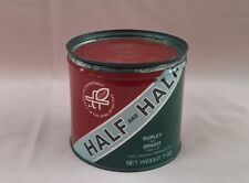 Vintage HALF AND HALF SMOKING TOBACCO TIN ROUND 7 oz. L@@K