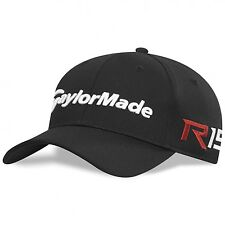 New TaylorMade Golf 2015 BLACK Tour Cage Fitted R15 AeroBurner Hat/Cap size S/M