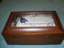 Beautiful Simulated Wood Music Box In Excellent Condition With Picture Frame
