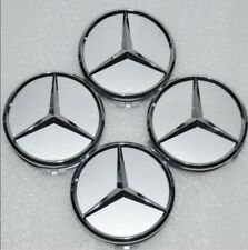 4x 75mm Center Hubcap Hub Cap Caps MB Emblem Wheel Cover for  Mercedes