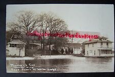 MURRAY'S INN North Wing, East front on White Lake, Whitehall, MI, RPPC postcard
