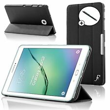 Leather Black Folding Smart Case Cover Samsung Galaxy Tab S2 8.0 T710 + Stylus