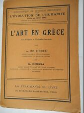 RIDDER A. de - DEONNA W. - l'ART EN GRECE - l'EVOLUTION DE L'HUMANITE 12
