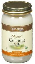 Spectrum Naturals Organic Coconut Oil Expeller Pressed 14 fl oz Jar Refined NEW