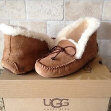 Ugg Alena Slippers Moccasins Chestnut Suede Womens US 5 New 1004806