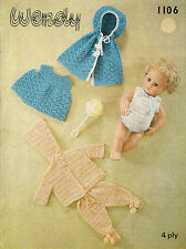 14 inch Baby Dolls clothes crochet pattern.  (V Doll 12)