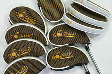 10 Golf Mad Iron Covers Golf Headcovers for Callaway Taylormade Mizuno Ping only