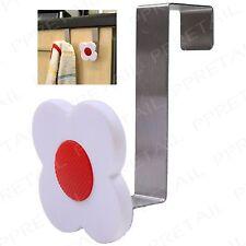 8x Flower Design Cabinet Hooks ~OVER THE DOOR HANGER~ Towel/Clothing Storage