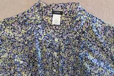 J CREW LIBERTY Wiltshire Floral PRINT 'Suzanna' Ruffle SHIRT 100% COTTON L 12 14