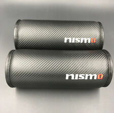 2pcs Nismo Carbon Fiber Head Rest Cushion Seat Neck Pillow Pad for Nissan