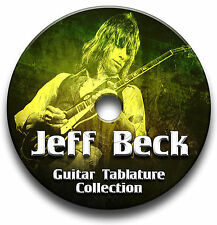 Jeff Beck ROCK CHITARRA schede tablature SONG BOOK CD software