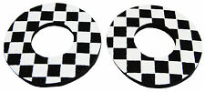 Flite old school BMX bicycle grip foam donuts - CHECKERBOARD BLACK *MADE IN USA*
