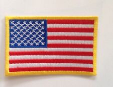 USA AMERICAN FLAG  ░ Quality Iron On Patch Badge TOP GUN  ����Costume Dressup
